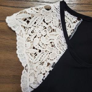 kii Tops - Kii Black TShirt with Lace Sleeves Size S